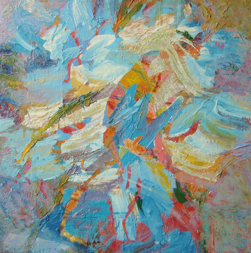 """Lots of paint"" original fine art by Priscilla Bohlen"