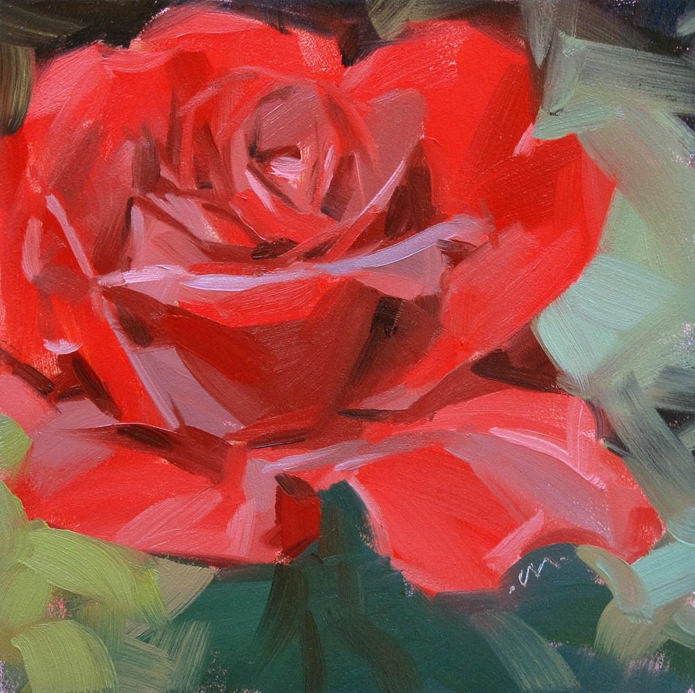 """Velvety Red"" original fine art by Carol Marine"