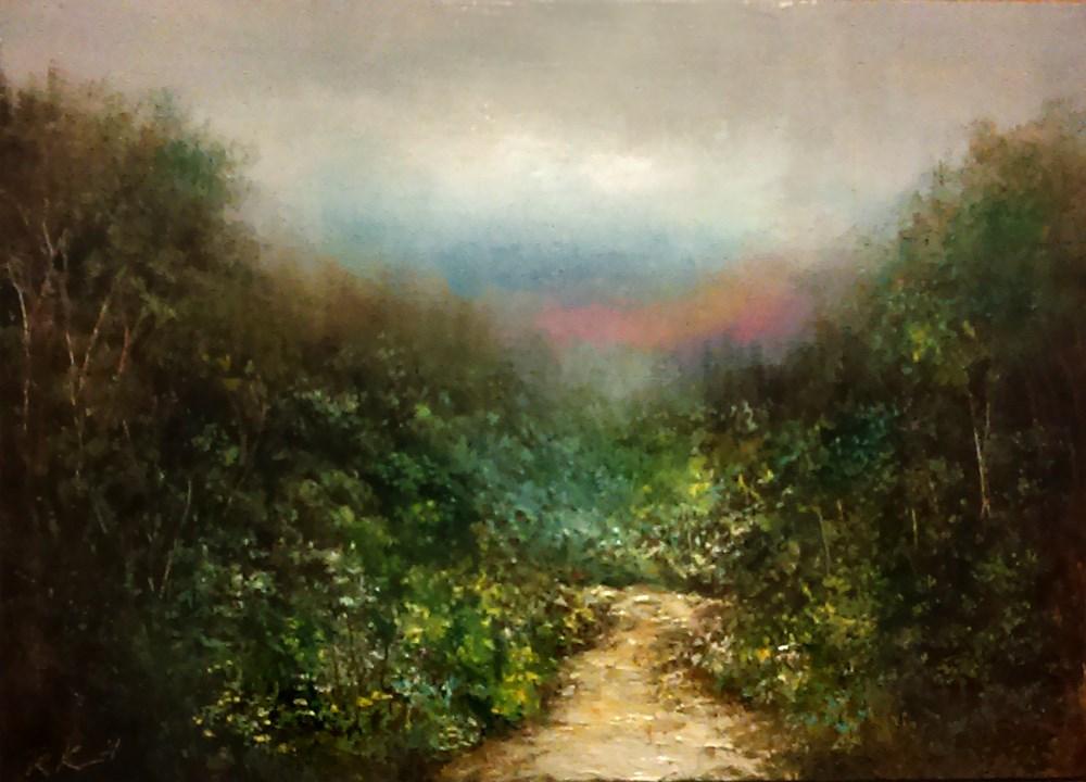 """""""Winding Trail"""" original fine art by Bob Kimball"""