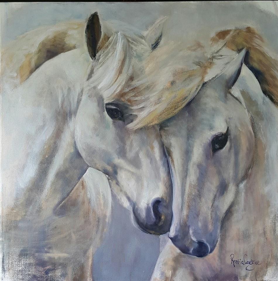 """""""My other half"""" original fine art by Rentia Coetzee"""