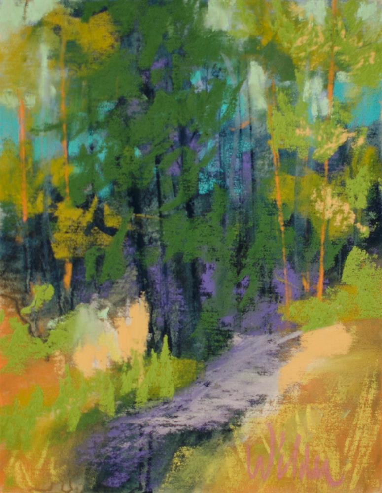 """Into the Woods"" original fine art by Judy Wilder Dalton"