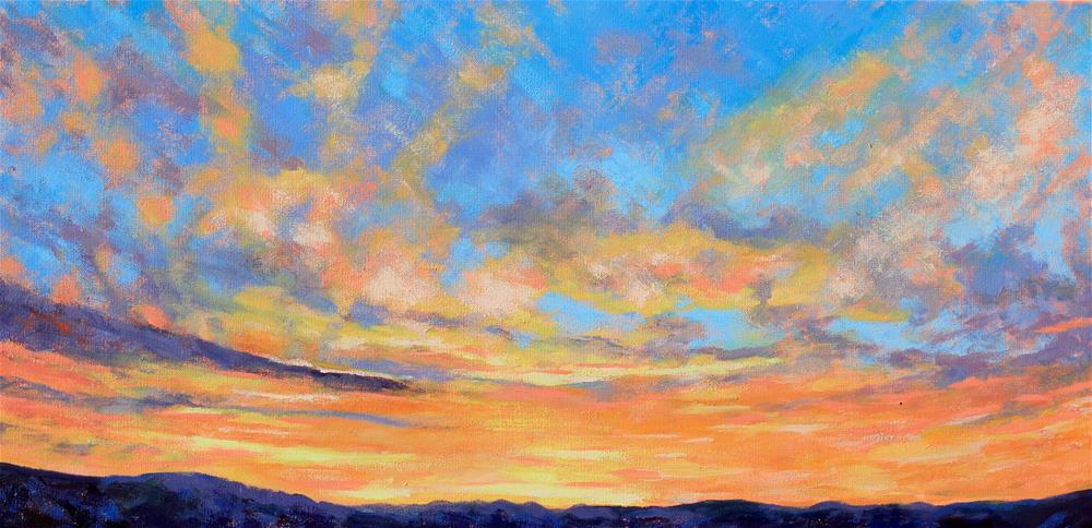 """Stormy sunrise"" original fine art by Marcy Mignone"