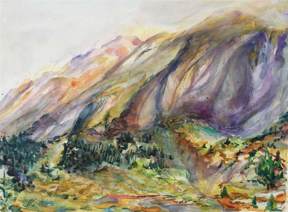 """Beaver Ponds Below Spring Mountain, Colorado"" original fine art by Jean Krueger"