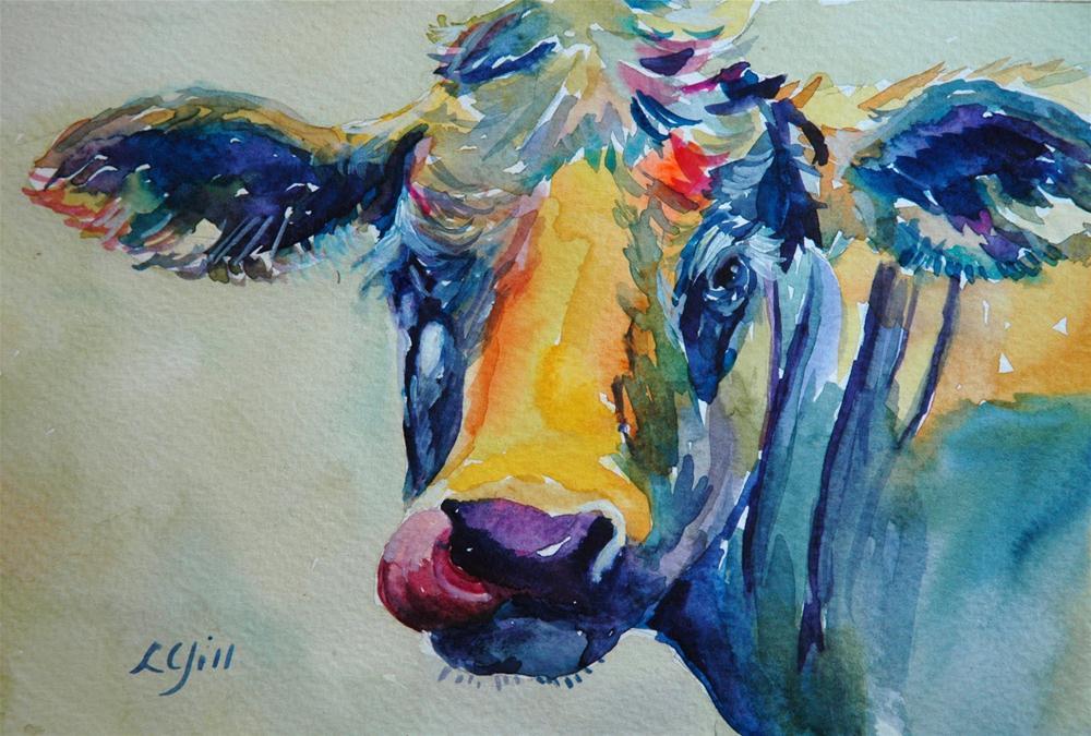 """""""Heifer 2"""" original fine art by Lyn Gill"""