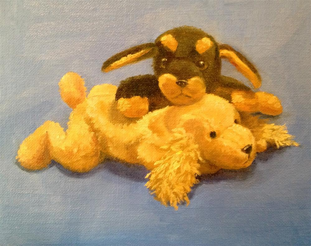 """Play Date"" original fine art by Nancy Wahl"