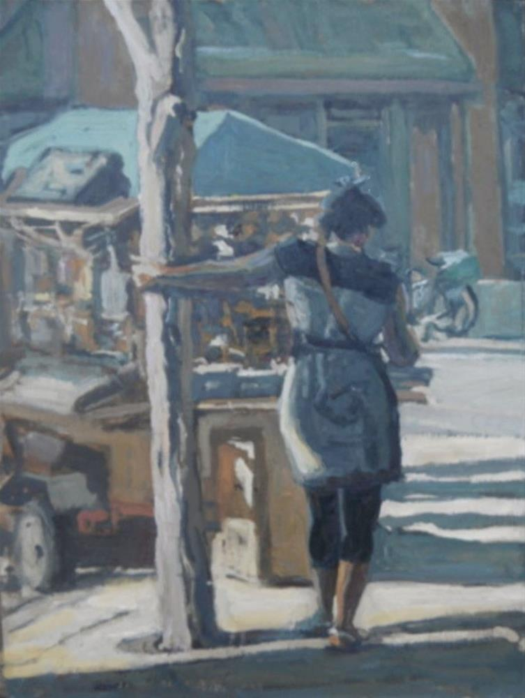 """""""Languid on 16th Street"""" original fine art by Michael McConnell"""
