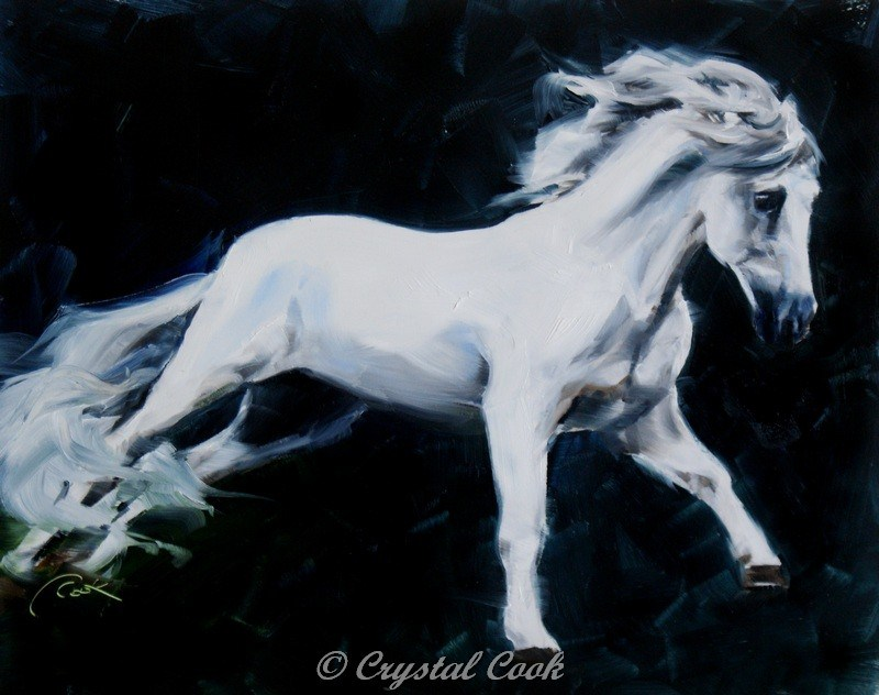 """""""By Moonlight"""" original fine art by Crystal Cook"""