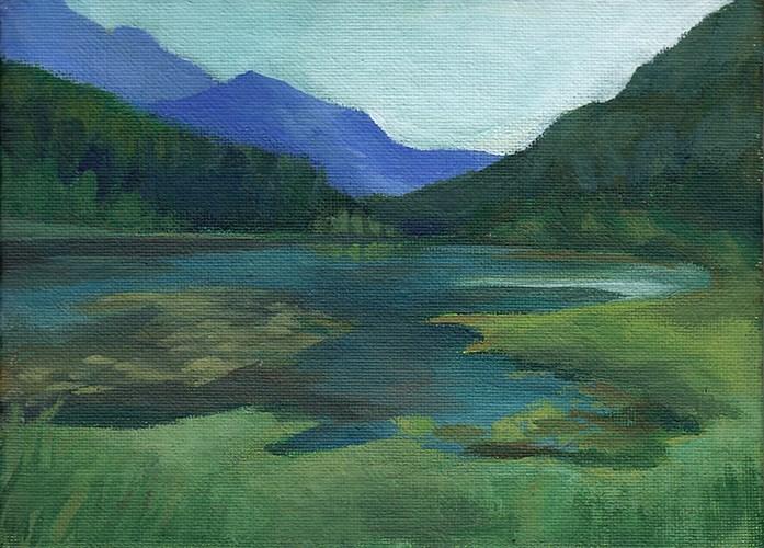 """One Mile Lake"" original fine art by J M Needham"