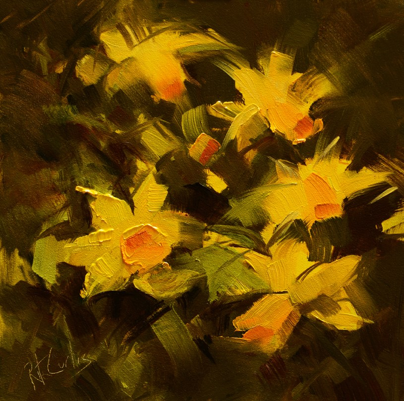 """Field of Daffodils"" original fine art by Rita Curtis"