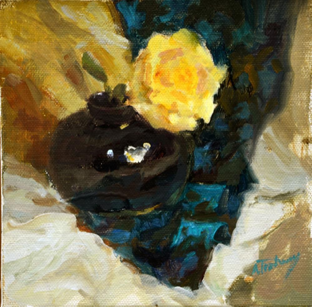 """Yellow Rose"" original fine art by alicia tredway"