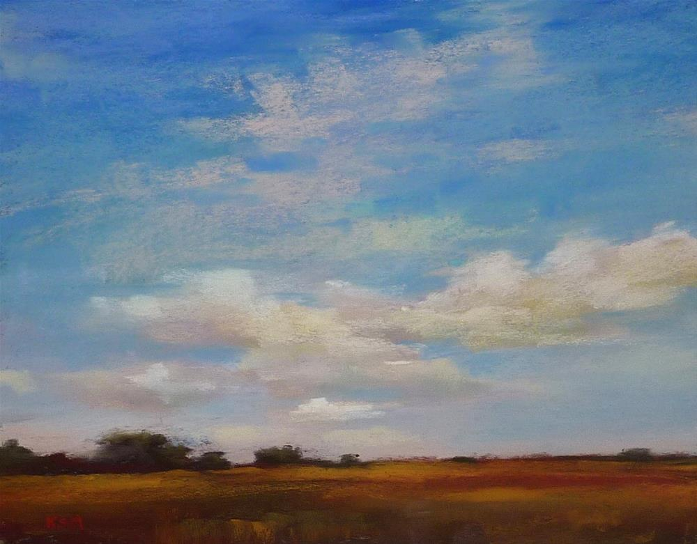 """Demo Monday...Painting a Happy Sky"" original fine art by Karen Margulis"