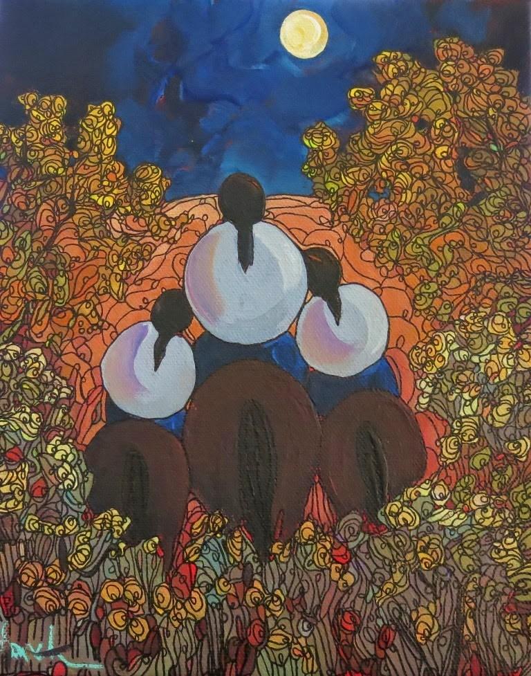 """""""About the Retro Challenge"""" original fine art by Dee Sanchez"""