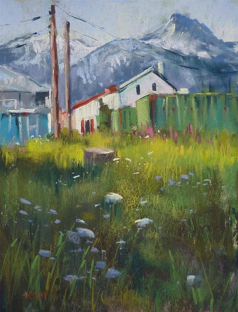 """A Tip For Adding Complex Structures to Your Landscape Paintings"" original fine art by Karen Margulis"