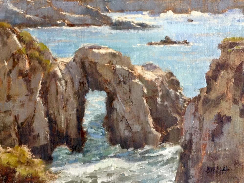 """Point Lobos Arch"" original fine art by Barbie Smith"