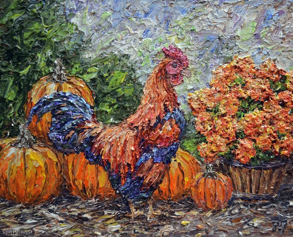 """""""Blending In"""" original fine art by Gloria Ester"""