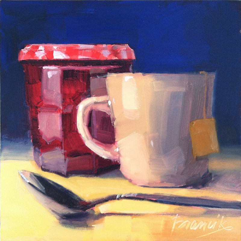 """""""Tea, a Drink with Jam and Bread"""" original fine art by Candace Brancik"""