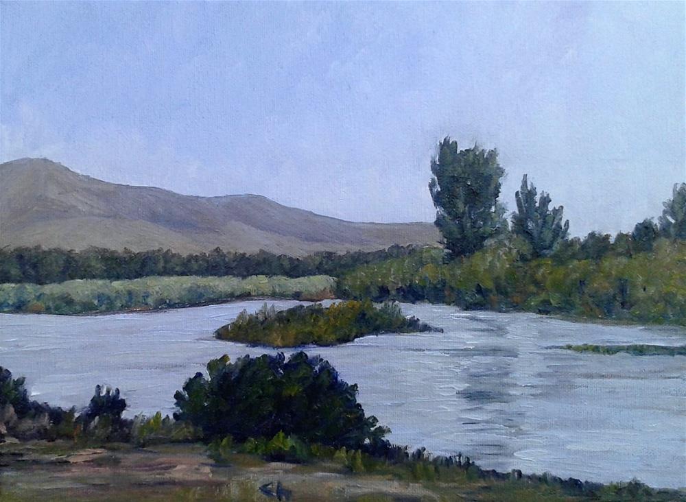 """""""Rio Grande, Mesilla"""" original fine art by Candi Hogan"""