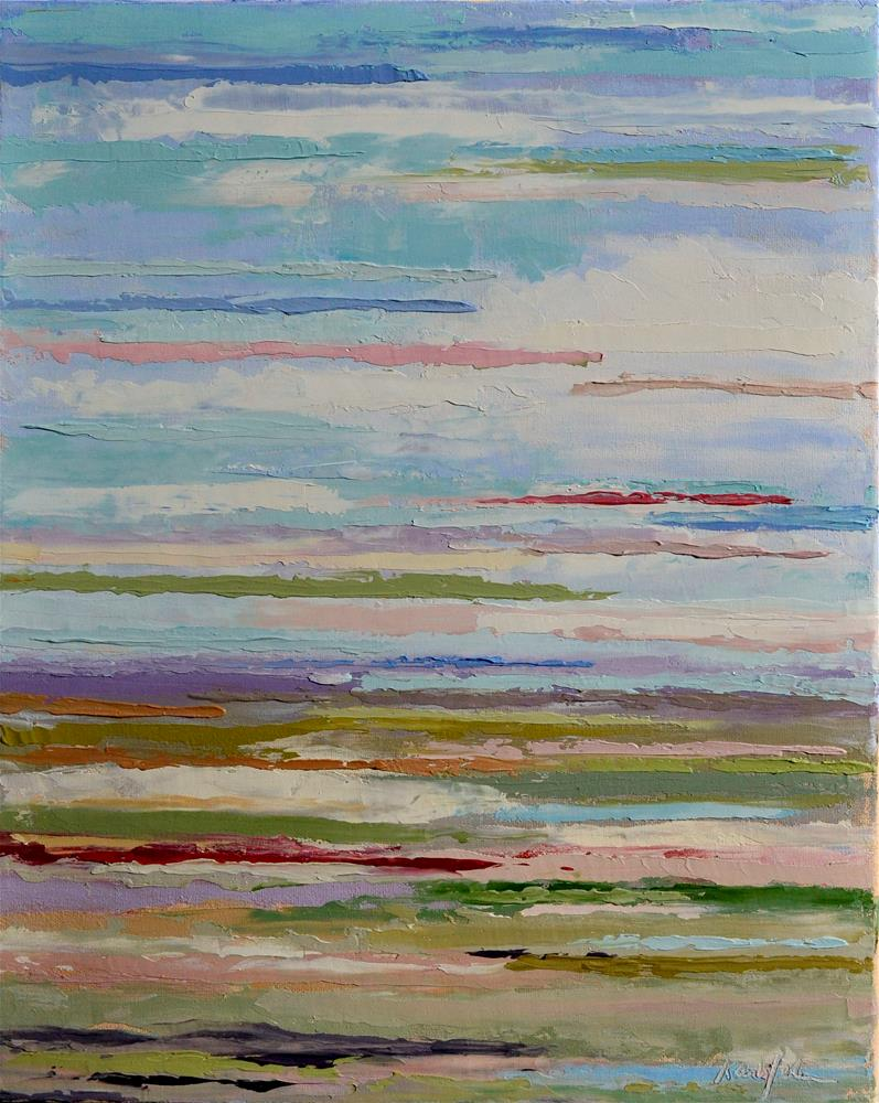 """""""Layers 1"""" original fine art by Karen Weber"""