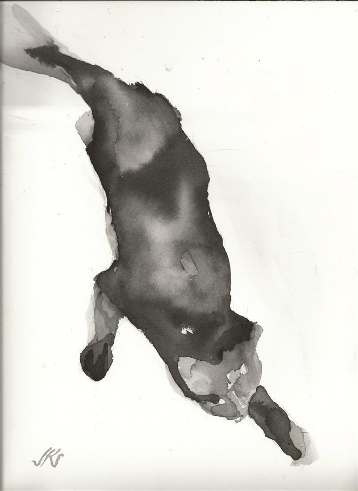 """Black Cat 1"" original fine art by Jean Krueger"
