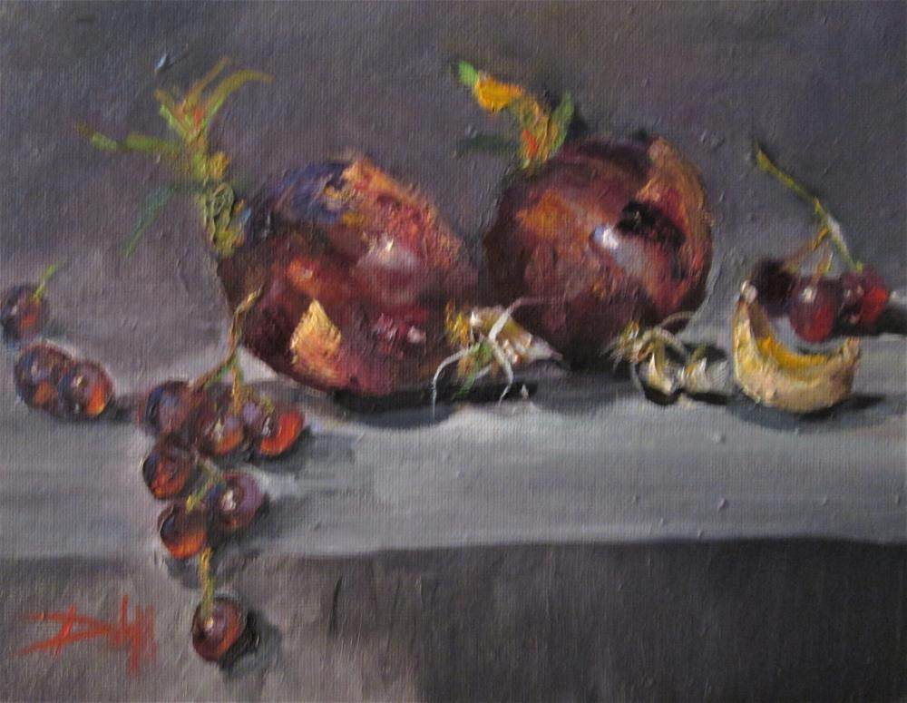"""A Study of Red Onions"" original fine art by Delilah Smith"