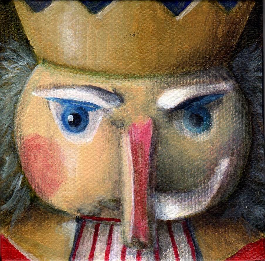 """The Evil Nutcracker - SOLD"" original fine art by Debbie Shirley"
