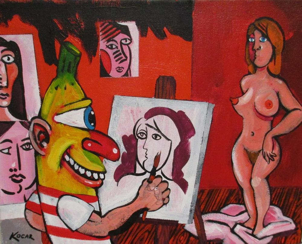 """Pablo Banana's Red Studio"" original fine art by George Kocar"
