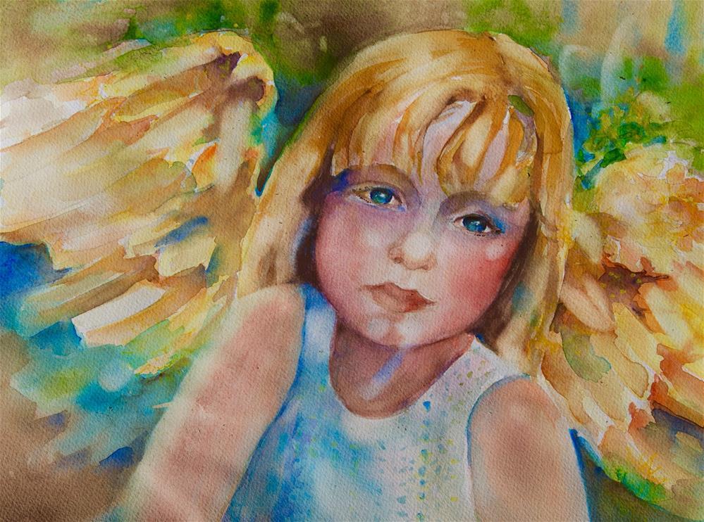 """Golden Angel of the Sunflowers"" original fine art by Reveille Kennedy"