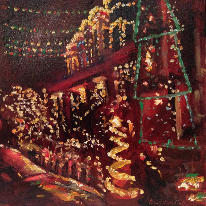 """""""34th Street Christmas IV, Day 78"""" original fine art by Claudia L Brookes"""