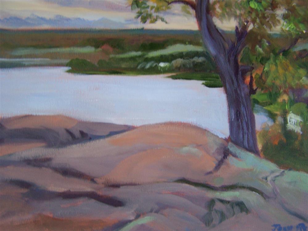 """""""On the Rock"""" original fine art by Joan Reive"""