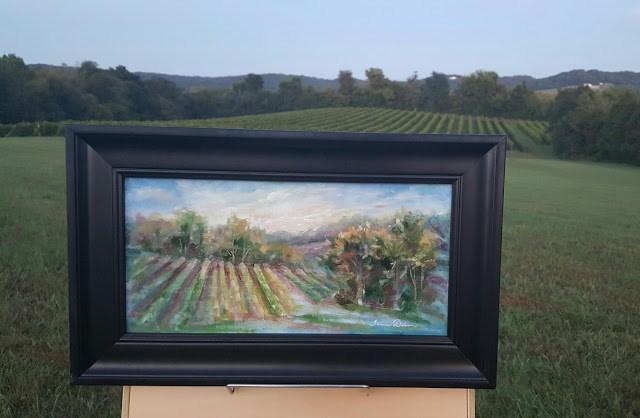 """Dusk on the Vineyard"" original fine art by Tammie Dickerson"