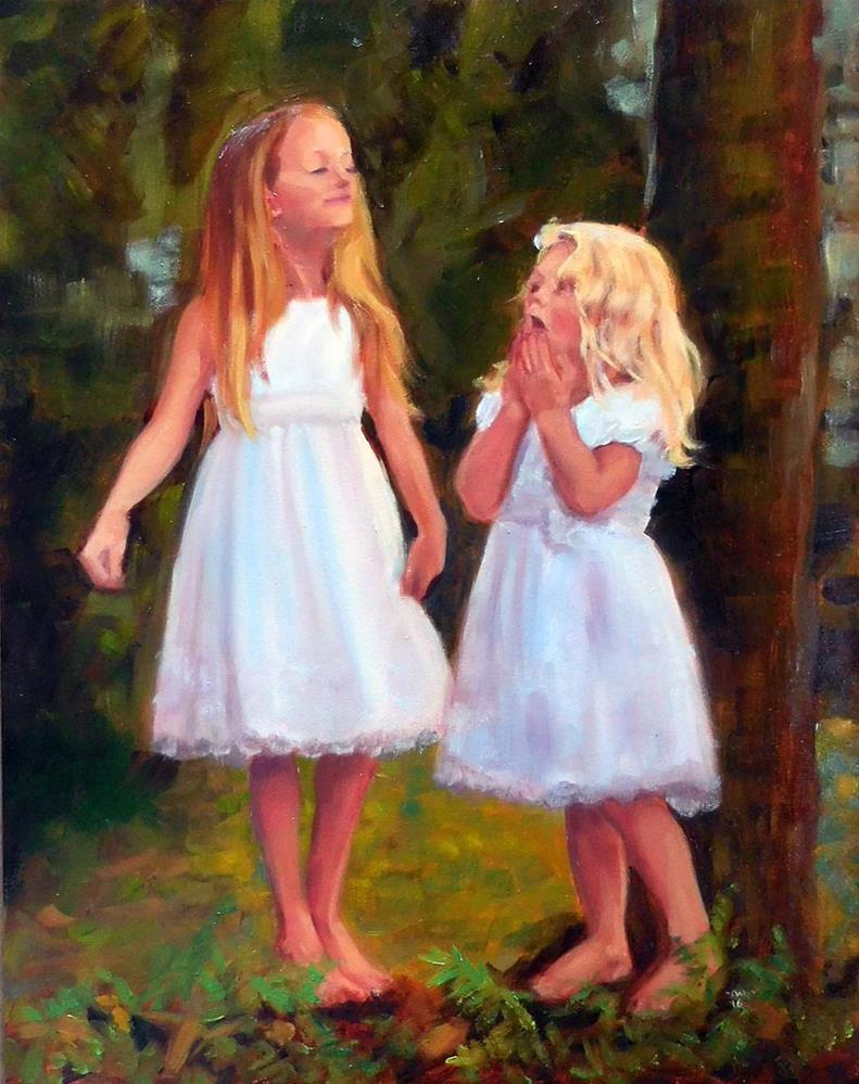 """Woodland Fairies"" original fine art by Cietha Wilson"