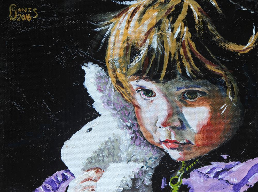 """Bunny"" original fine art by Fred Jones"