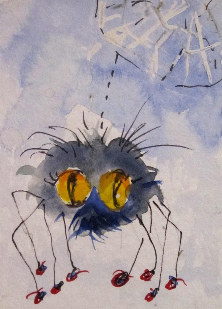 """""""Spider aceo"""" original fine art by Delilah Smith"""