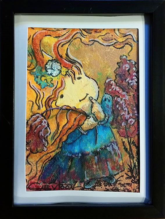 """A Girl"" original fine art by Gabriella DeLamater"