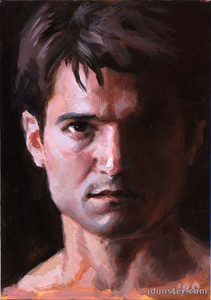 """Jason in Shadow"" original fine art by J. Dunster"