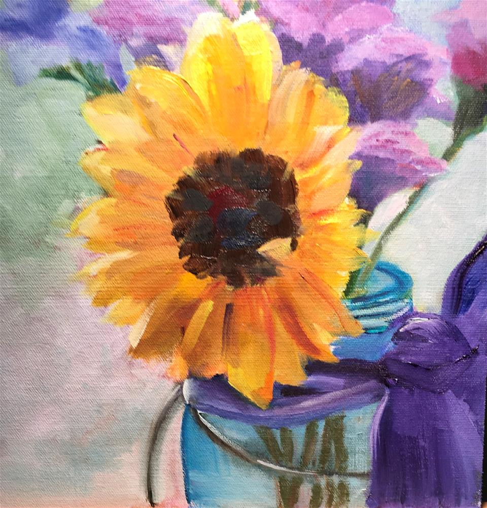 """Morning Sunshine"" original fine art by Patty Barnes"
