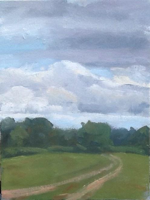 """Storm Brewing"" original fine art by Elizabeth Bish"