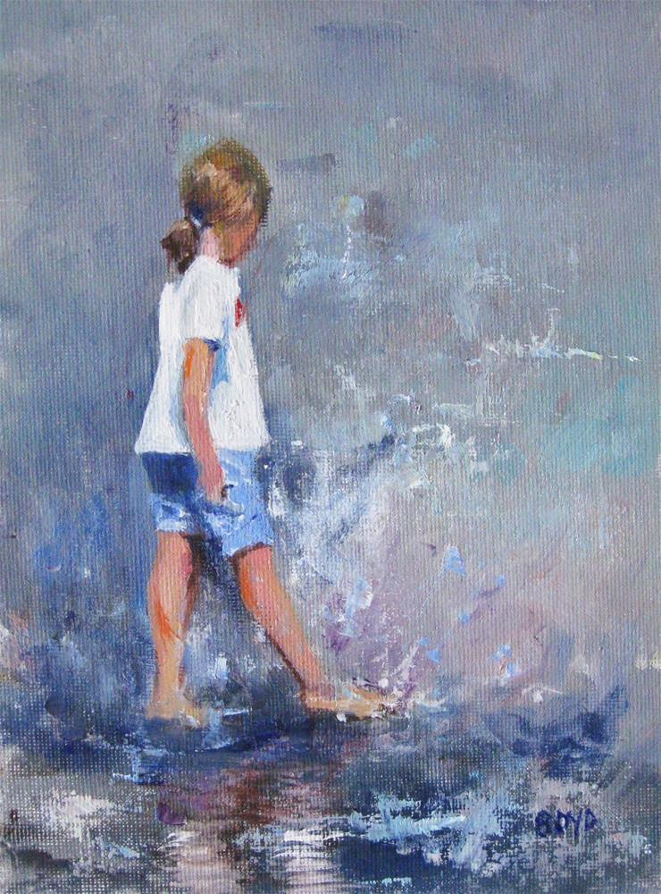 """Splashin' Around"" original fine art by Cathy Boyd"