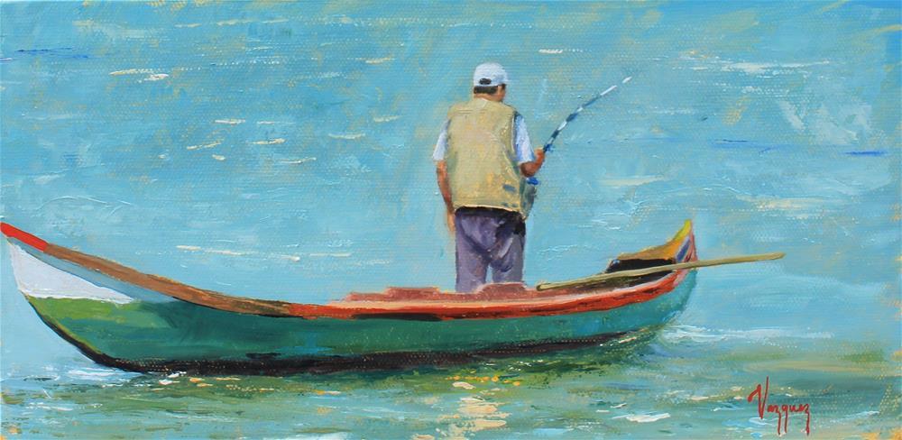 """Fisherman "" original fine art by Marco Vazquez"