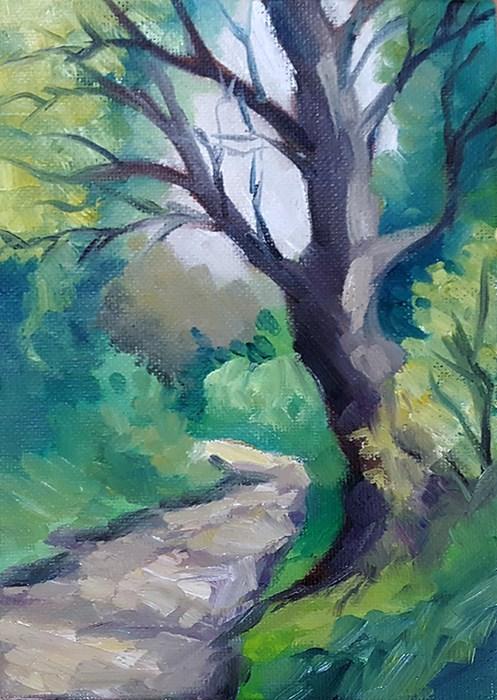 """Path Near The Allotments"" original fine art by J M Needham"