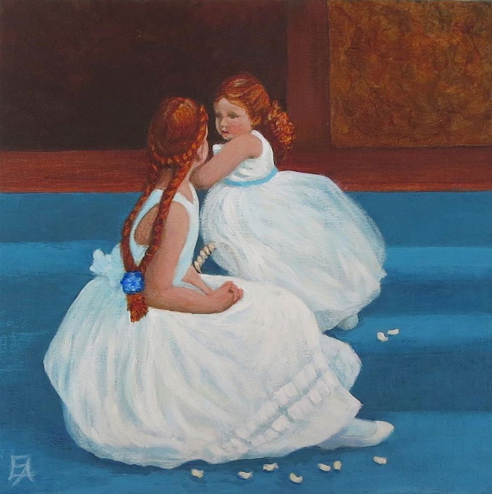 """""""Redhead Flowergirls"""" original fine art by Elizabeth Elgin"""