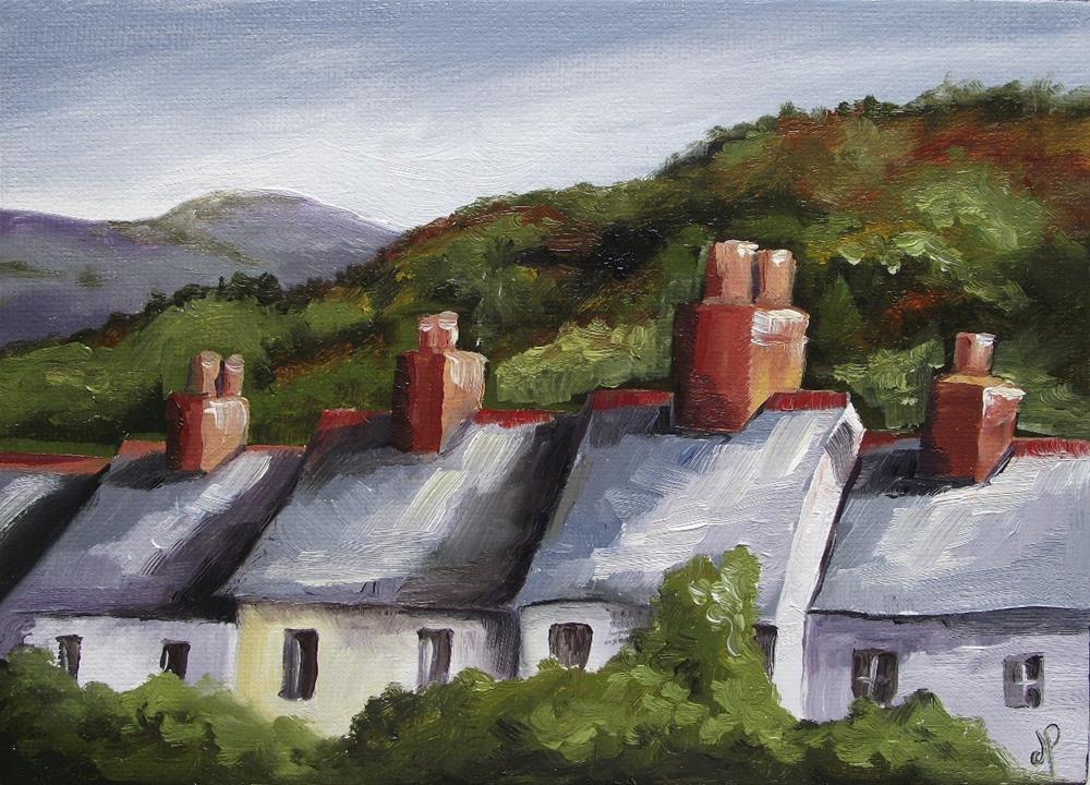 """""""Welsh Terrace - Y Teras"""" original fine art by Jane Palmer"""