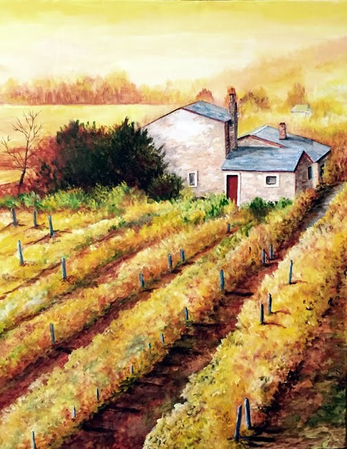 """Vineyard"" original fine art by Nan Johnson"