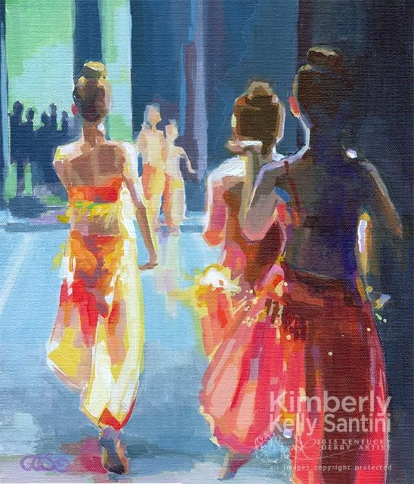 """""""A Whole New World"""" original fine art by Kimberly Santini"""