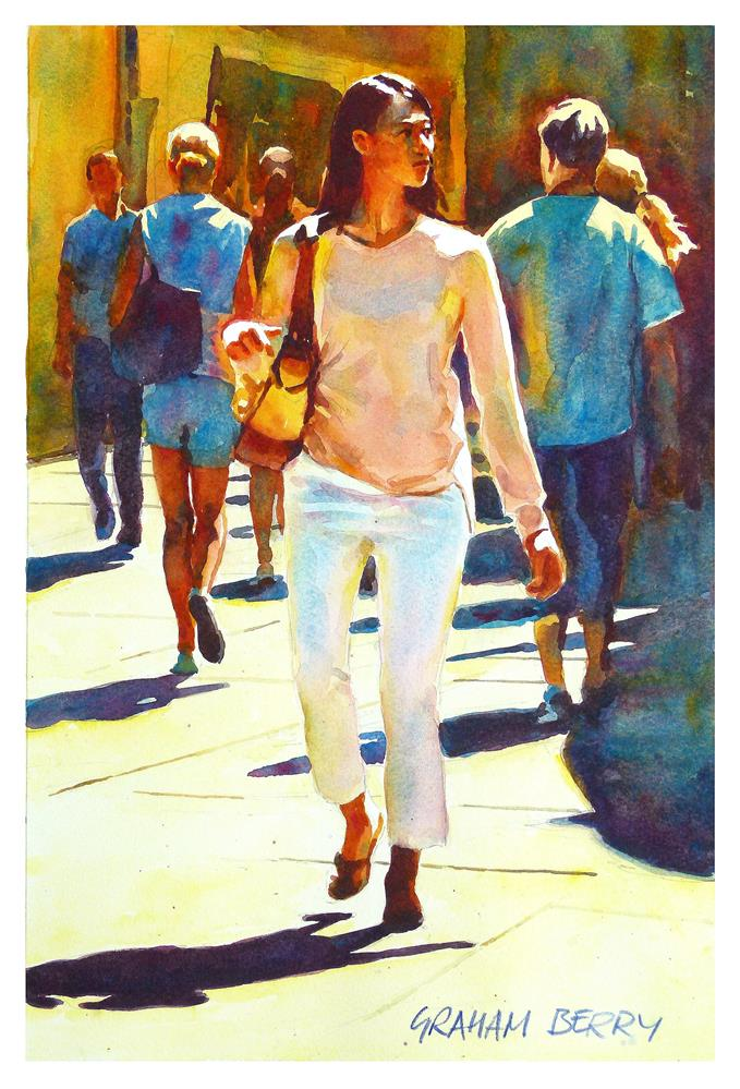 """Woman in the crowd."" original fine art by Graham Berry"