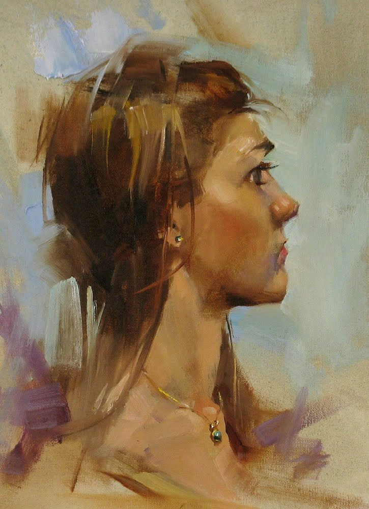 """Anna"" original fine art by Qiang Huang"