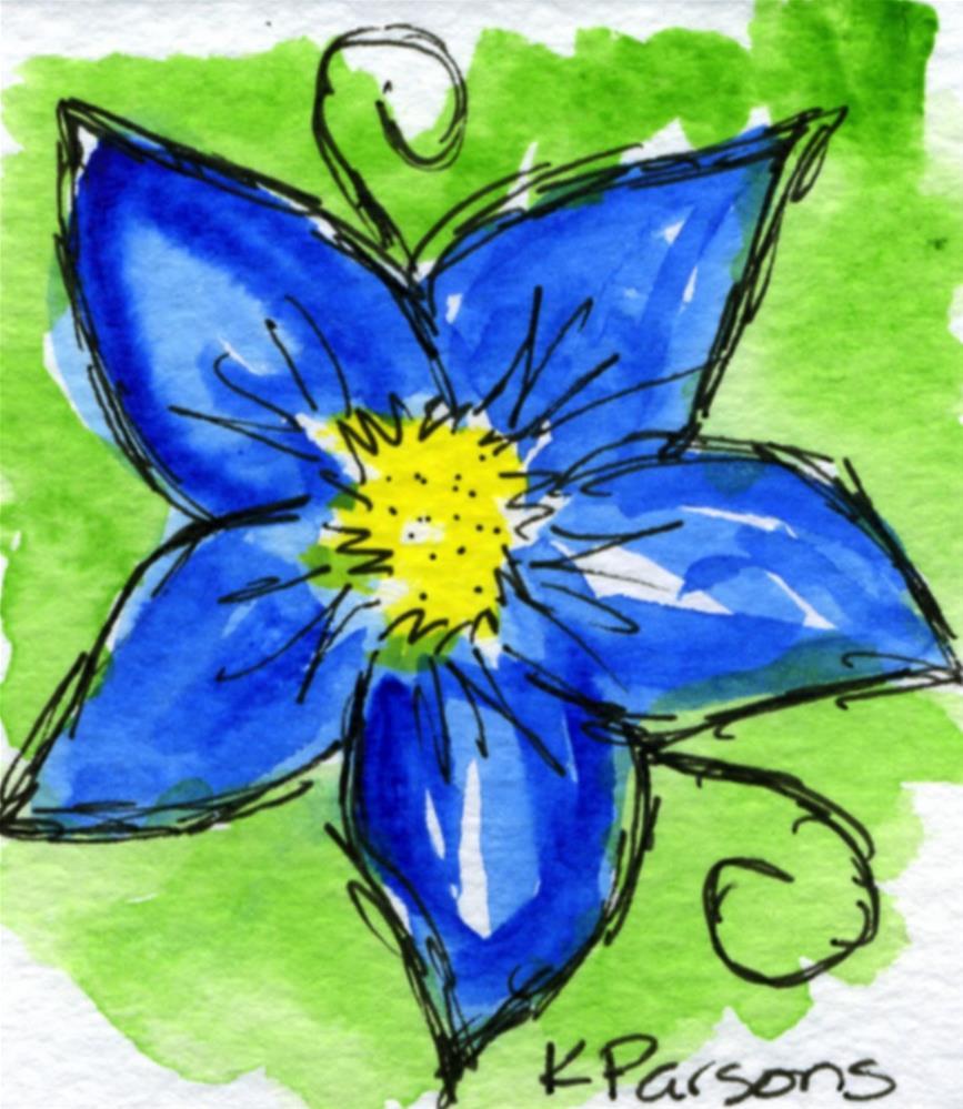 """Curly Blue"" original fine art by Kali Parsons"