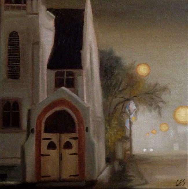 """Commissioned Painting: Eston United Church"" original fine art by ~ces~ Christine E. S. Code"
