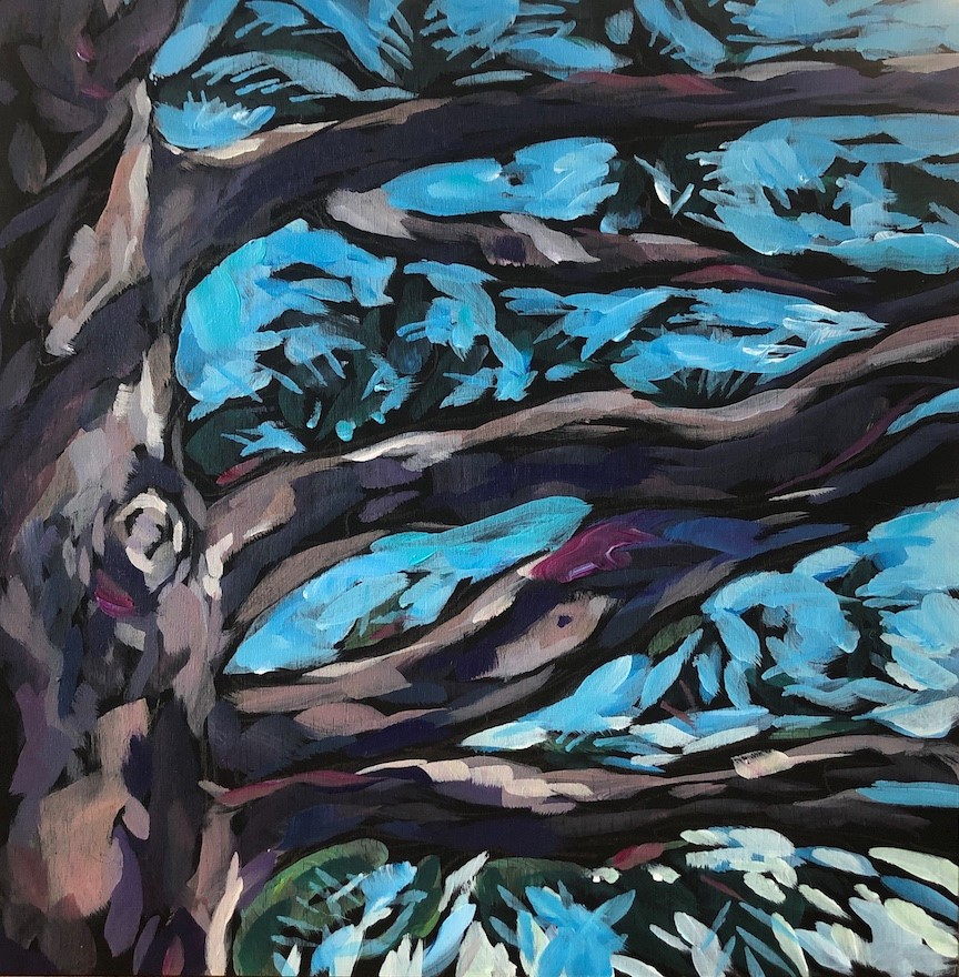 """Pine Limbs"" original fine art by Kat Corrigan"