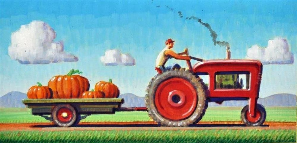 """Harvest"" original fine art by Robert LaDuke"